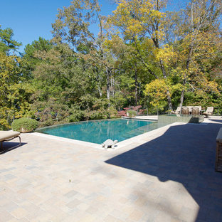 This is an example of an arts and crafts pool in Atlanta.