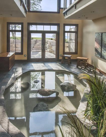 Rustic Pool by Deep River Partners