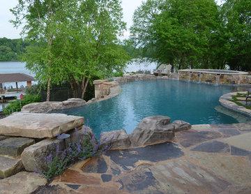 Lake Property with Infinity edge pool