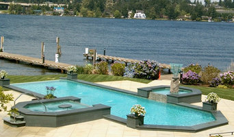 Lake Washington Pool With Spa and Fountain