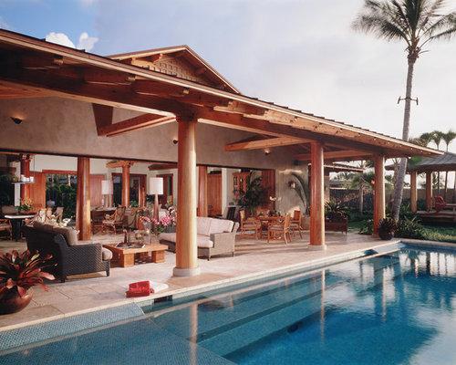 Lanai pool houzz for Lanai structure