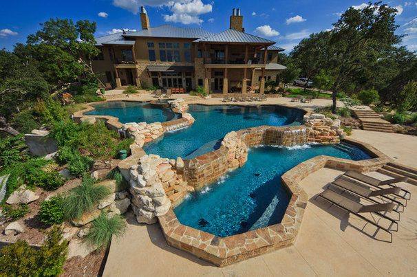 Contemporary Pool by Land Design