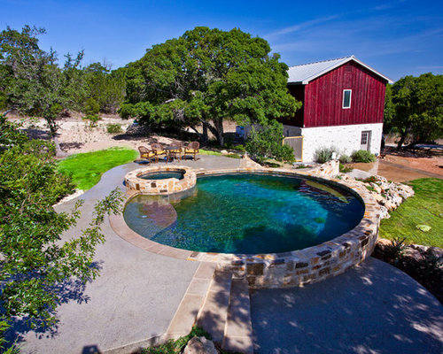 Stock tank houzz for Galvanized water trough swimming pool
