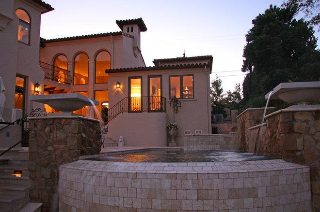 Mediterranean Pool by Landmark Builders