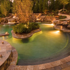 Traditional Pool by Outdoor Lighting Perspectives - Birmingham, AL