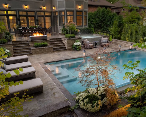 Beautiful pools design ideas remodel pictures houzz for Decorating pool area on a budget
