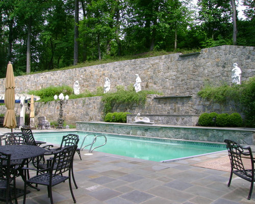 Best high retaining wall design ideas remodel pictures for Pool design retaining wall
