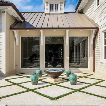 Landscaping and Pavers For Straight Line Lap Pool in Fort Lauderdale