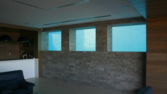 Lap Pool Design with the clever use of glass panel windows