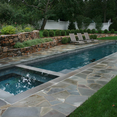 Example of a classic lap pool design in New York
