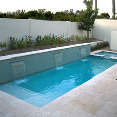 Contemporary Pool by Alpentile