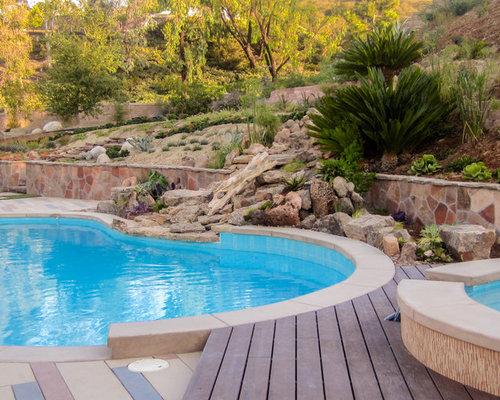 Large Backyard Slope + Landscape Design - Carlsbad on inground pool designs, large backyard with pool, large front yard landscaping ideas, backyard flower garden designs, inground jacuzzi designs,
