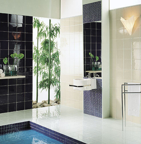 Large colorful glass tiles for Large glass tiles