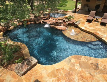 Large Flagstone Deck