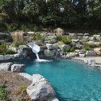 Large In Ground Swimming Pool In Rural Pennsylvania