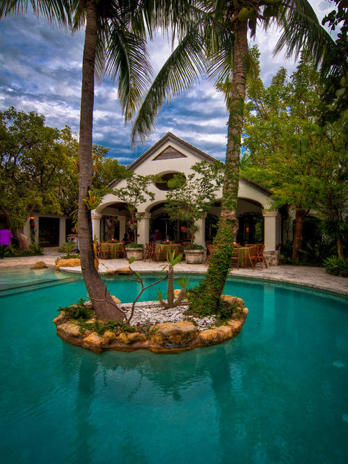 Palm tree backyard home design ideas pictures remodel for Pool design miami