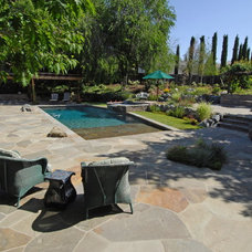 Mediterranean Pool by Lazar Landscape Design and Construction