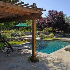 Mediterranean Pool by Lazar Landscape Design and Construction