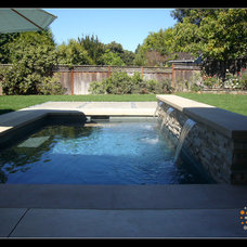 Modern Pool by Canyon Design Build