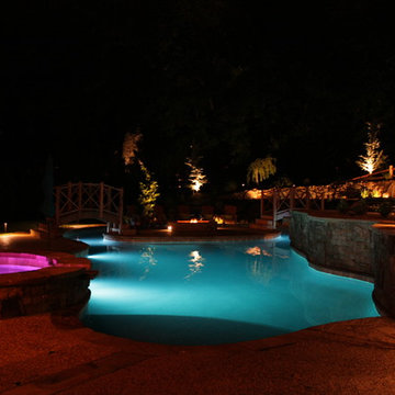 Lazy River Pool and Island Fire Pit