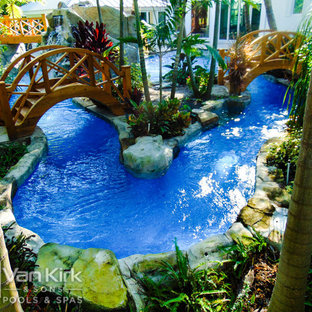 Lazy River with Bridges for Extreme Resort Lagoon in Deerfield Beach, Florida