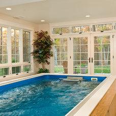 Modern Pool by Rinehart Custom Homes