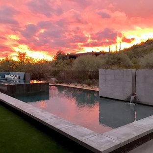 Réalisation d'une piscine design.