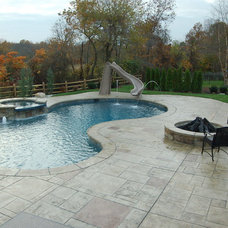 Modern Pool by Jersey Pools and Spas