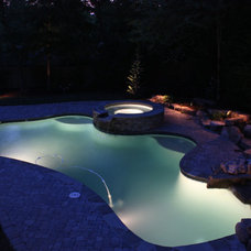 Traditional Pool by Shady Grove Landscape Company