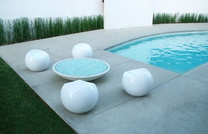 Modern Pool by Sylvia Elizondo Interior Design
