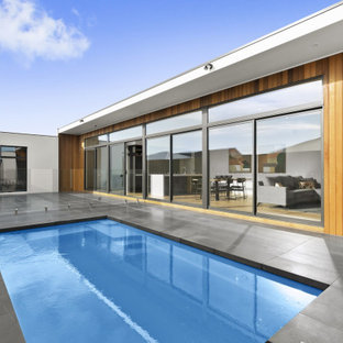 This is an example of a small contemporary courtyard rectangular pool in Geelong.