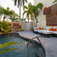 Contemporary Pool by Malibu West Interiors
