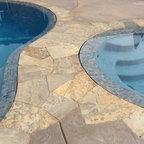Inground Pool Amp Spa With Cabana Rustic Pool New York