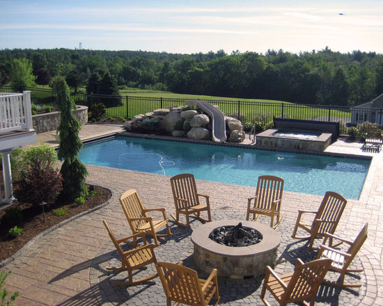 Modern Pool Designs With Slide modern pool design ideas, remodels & photos with a water slide