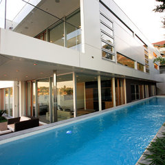 contemporary pool by Secret Gardens