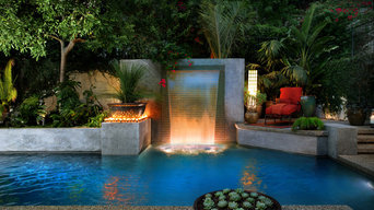 Los Angeles Modern Cascade Garden Pool