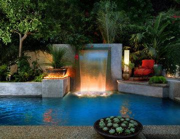 Los Angeles Modern Cascade Garden Pool