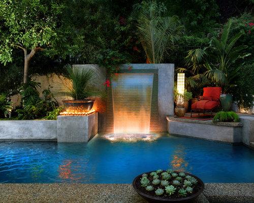Водопад во дворе дизайн