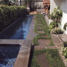 Mediterranean Pool by BE Landscape Design