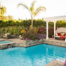 Traditional Pool by Design Focus Int'l Landscape Architecture & Build