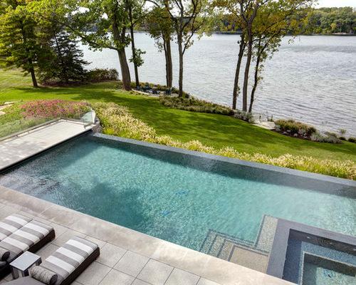 Rectangular Pool Ideas swimming pool rectangular inground pool with small fountain 5051 Rectangular Pool Design Photos