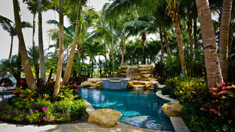 Lush Tropical Pool and Landscape