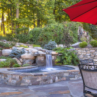 Luxurious, Rugged Natural Stone Spa