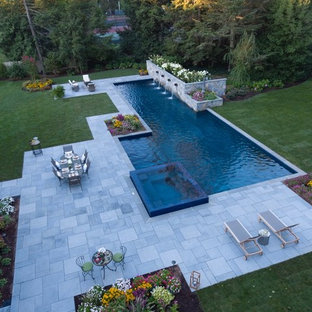 Luxury 75' Long Lap Pool Ridgewood NJ