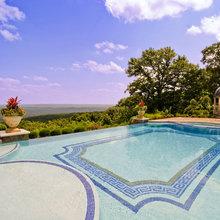 Glass Tile Infinity Edge Pool Design - Klassisch - Pools ...