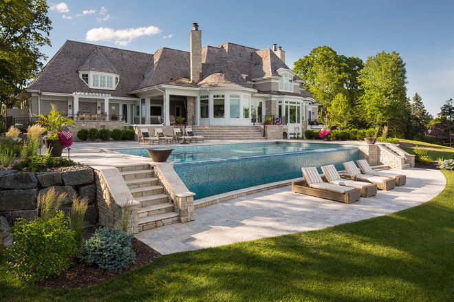 Beach Style Pool by Southview Design