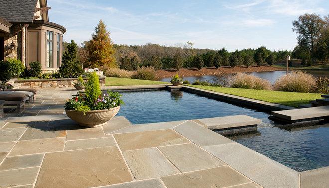 Traditional Pool by Kemp Hall Studio
