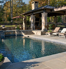 traditional pool by Kemp Hall Studio
