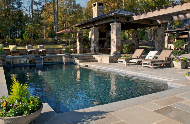 Rustic Pool by Kemp Hall Studio