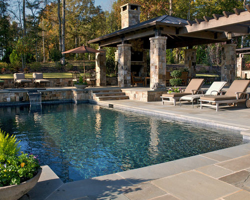30 best rustic pool ideas decoration pictures houzz for Popular pool designs